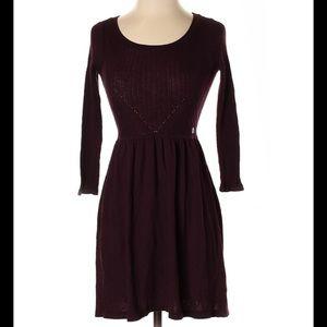 American Eagle purple a line sweater dress